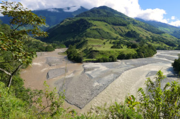 Confluencia de los ríos Santa Cruz y Huancabamba