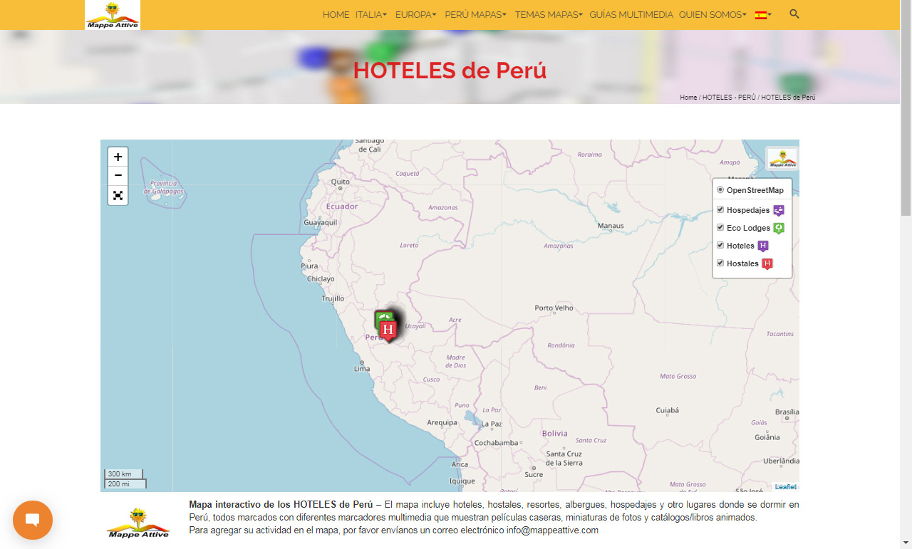 Oxapampa Peru Map.Peru Maps Mappe Attive Com