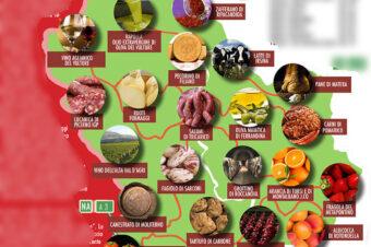 Mappa Basilicata Eccellenze Agroalimentari
